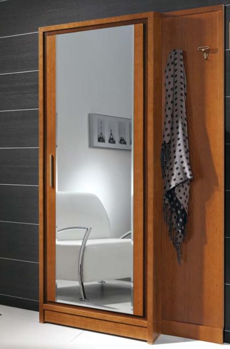 Garderobe Massiv Holz Kirsche Nussbaum Weiss