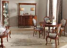 Kirsche, klassische italienische Speisezimmer - Möbel